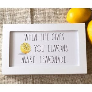 Rae Dunn WHEN LIFE GIVES YOU LEMONS Wood Sign